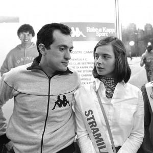 Stramilano 1981, ISABELLA ROSSELLINI, qui insieme a Pietro Mennea